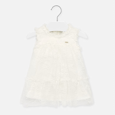 Short cardigan for baby girl Off white | Mayoral ®