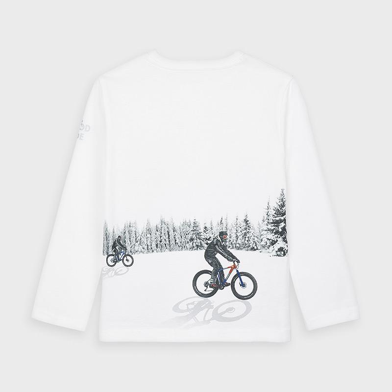 Koszulka dla chłopca Biały złamany