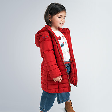 Mayoral Girls Red Bell Sleeve Coat