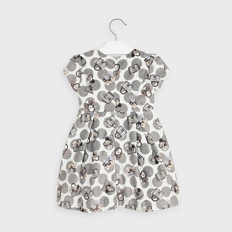 Sukienka z aksamitu dla dziewczynki Stal