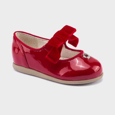 Patent effect Mary Jane shoes for baby