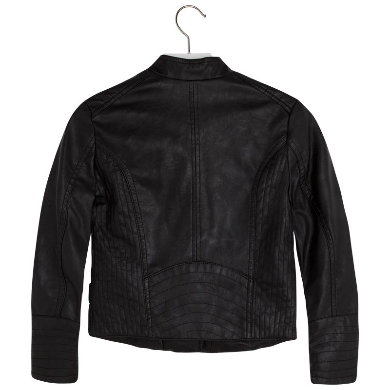 4a142f8b0 Details about Big Girl Tween 7-18 Black Asymmetric Zip Faux Leather Moto  Jacket, Mayoral