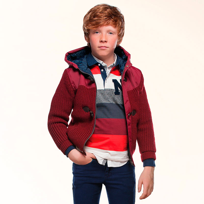Boy padded knit jacket Mayoral