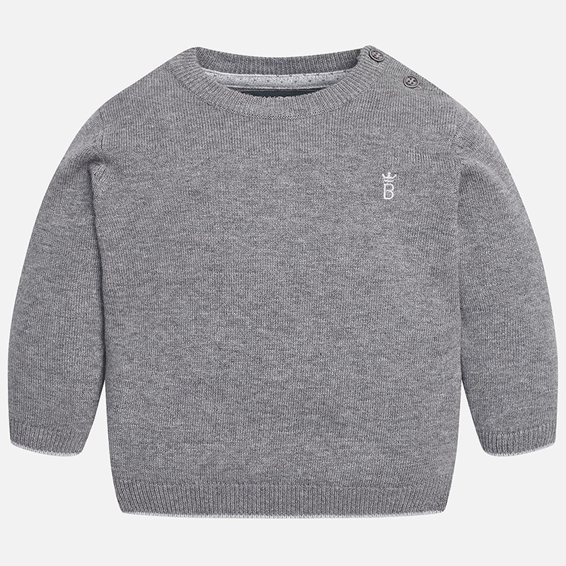 Image of Baby boy basic jumper with shoulder opening Mayoral