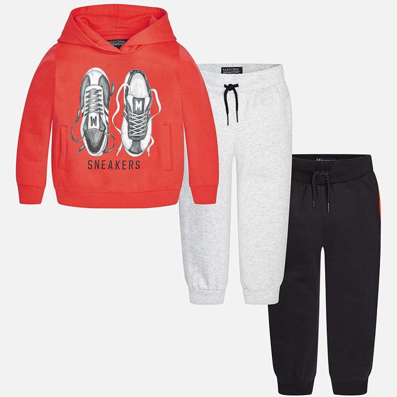 Survêtement garçon avec sweat et deux pantalons Mayoral
