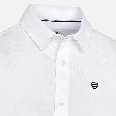 Πουκάμισο μακρυμάνικο βασικό για αγόρι Λευκό - Mayoral a22e4f1d735