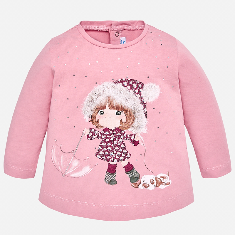 478c628aa Long sleeved t-shirt with print for baby girl Petal - Mayoral