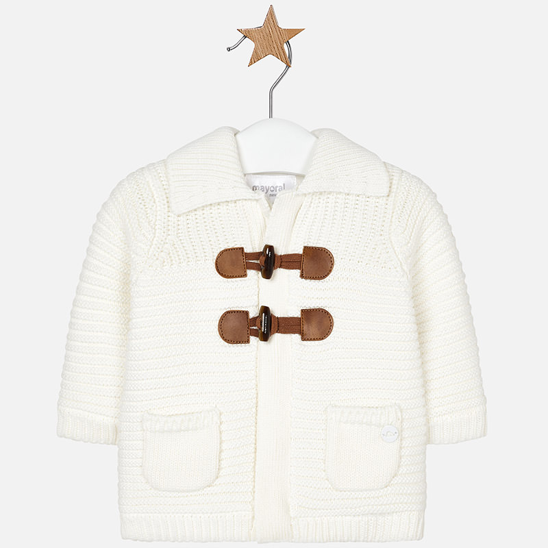 Chaqueta tricot para bebé niño Crudo - Mayoral