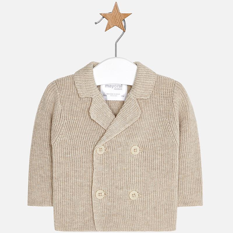 Chaqueta tricotosa para bebé niño Beige vigoré - Mayoral