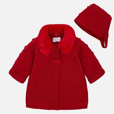 Baby-Mantel mit Mütze Sauerkirsche - Mayoral 45794326a7