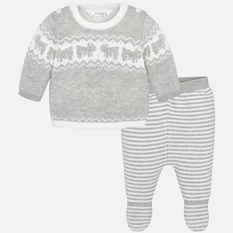 Conjunto polaina tricotosa para bebé niño Vapor vigoré - Mayoral