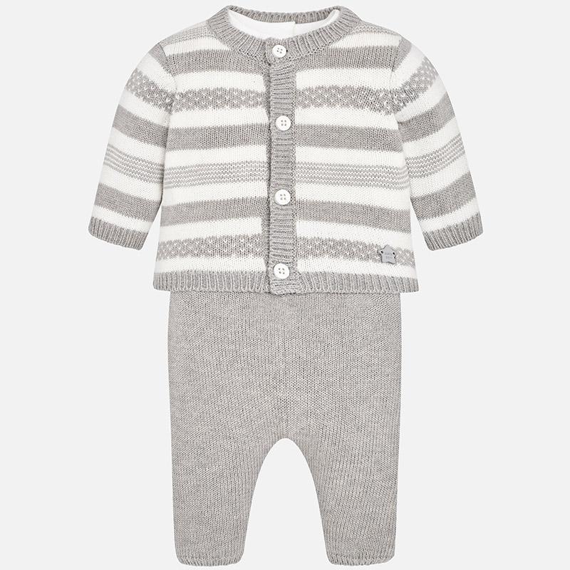 Conjunto pantalón, cardigan y camiseta para bebé niño Vapor vigoré ...