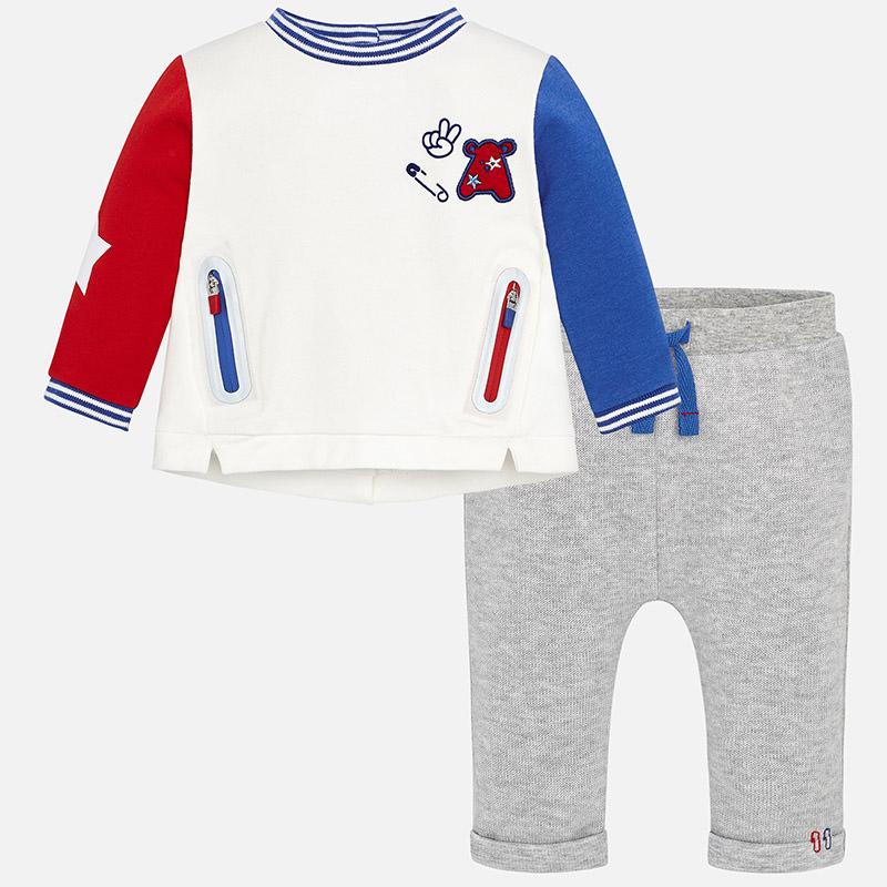Conjunto pantalón largo punto para bebé niño Plata Vigoré - Mayoral