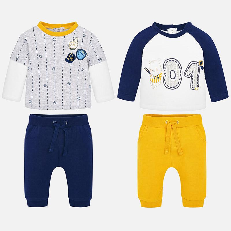 Conjunto punto 4 piezas para bebé niño Atlántico - Mayoral