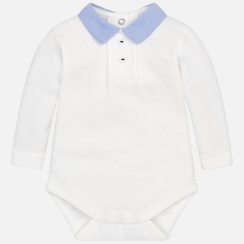 Body exterior cuello camisa para bebé niño Crudo-Azul - Mayoral