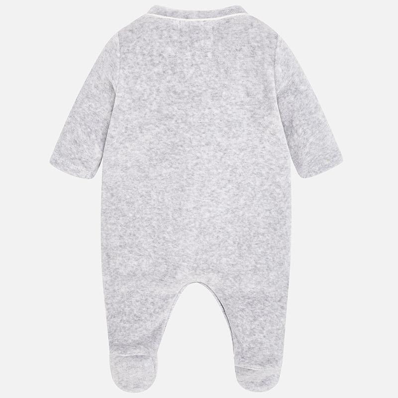 Πιτζαμάκι βελουτέ απλικέ για μωρό αγόρι Γκρι έντονο - Mayoral ecabc2b0b1b