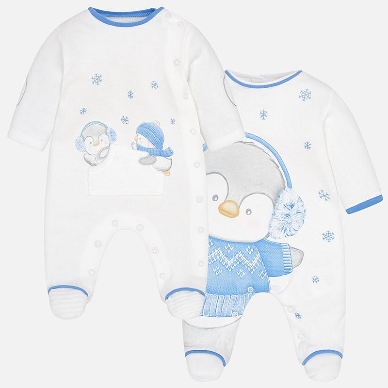 Jungen Baby 2er Set Schlafanzüge Interlock Gletscher - Mayoral