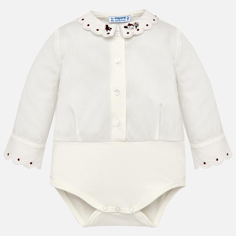 Body cuello bordado para bebé niña Rojo - Mayoral
