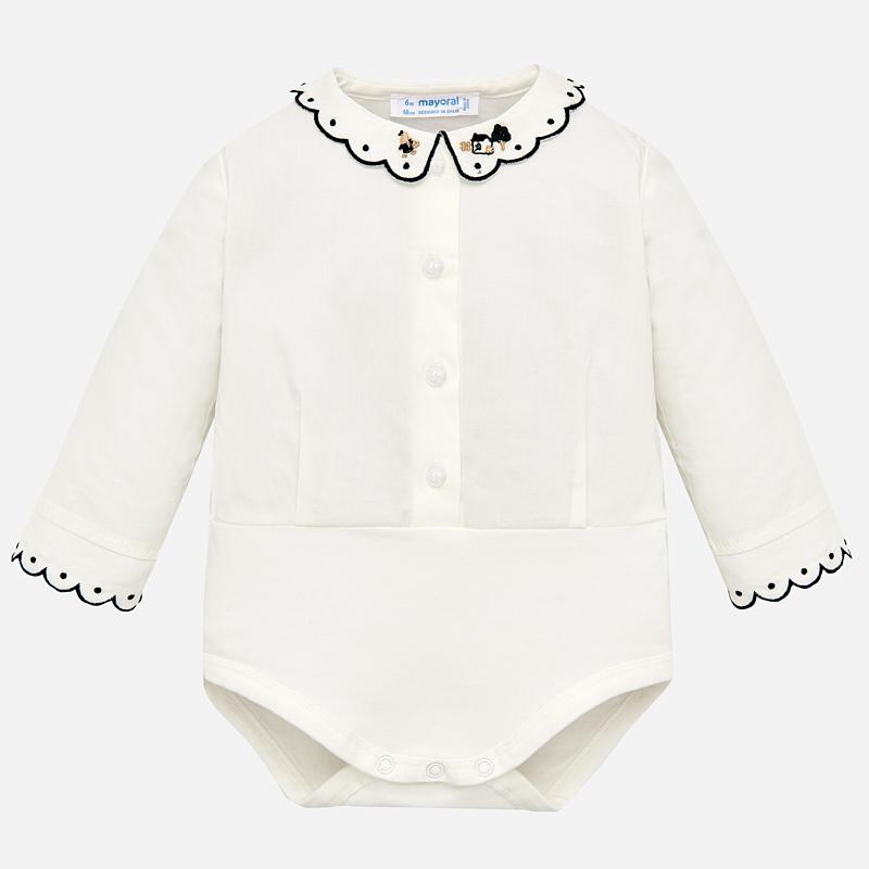 Body cuello bordado para bebé niña Marino - Mayoral
