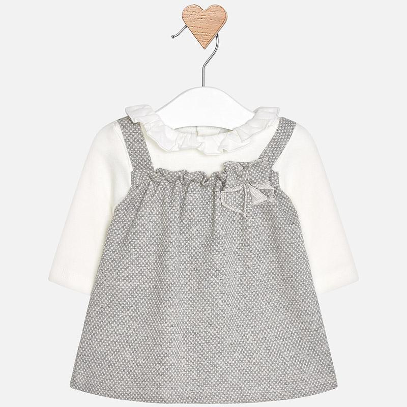 Vestido pichi para bebé niña Marengo vigoré - Mayoral