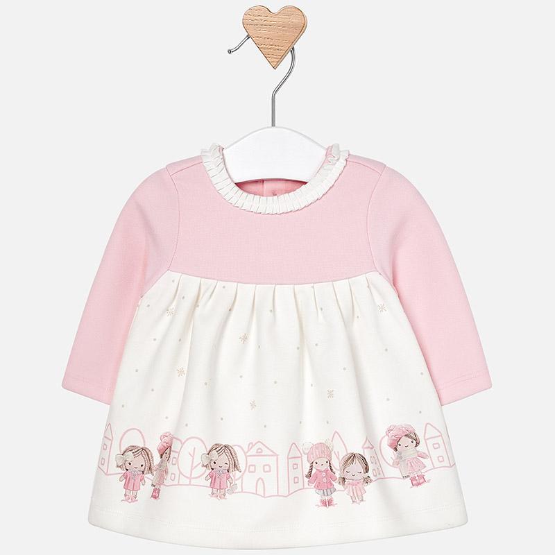 Vestido punto cenefa para bebé niña Cuarzo - Mayoral