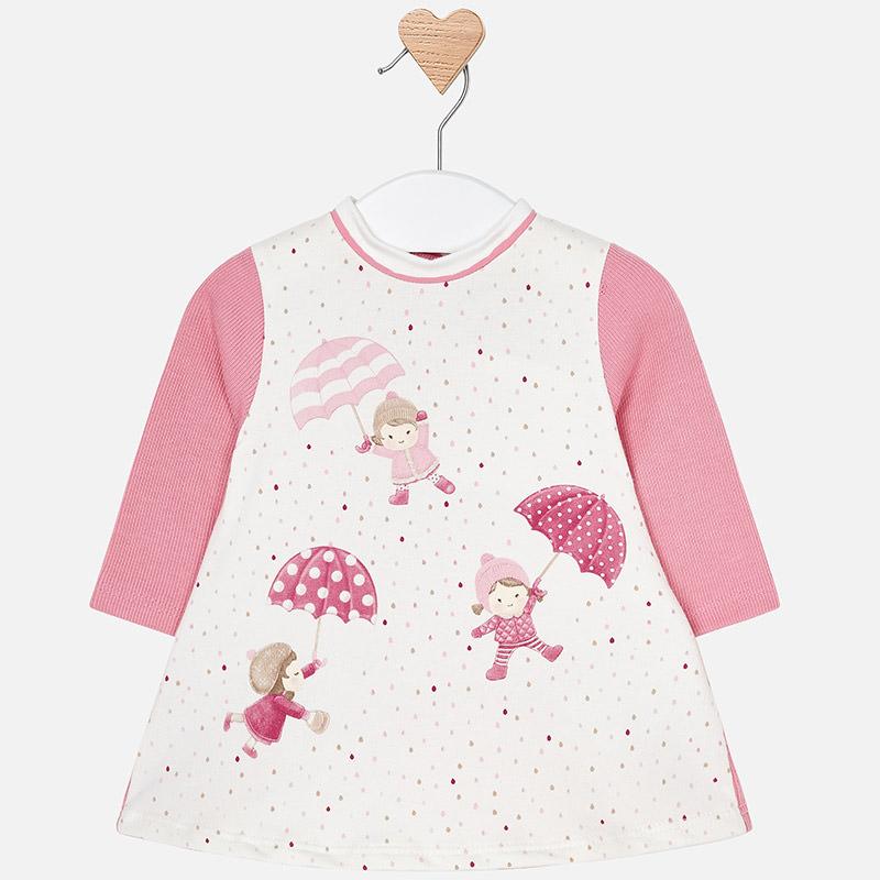 Robe peluche sérigraphié pour bébé fille Rose Pastel - Mayoral de9df0ce474