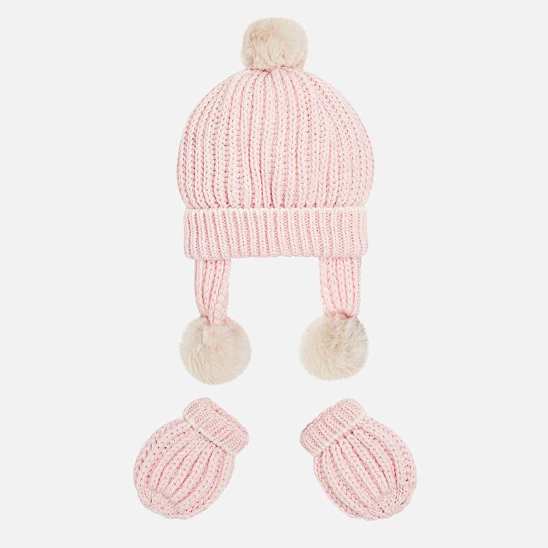 Conjuntos manoplas y gorro tricot para bebé Rosa Baby - Mayoral