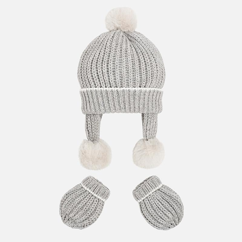 Conjuntos manoplas y gorro tricot para bebé Vapor vigoré - Mayoral