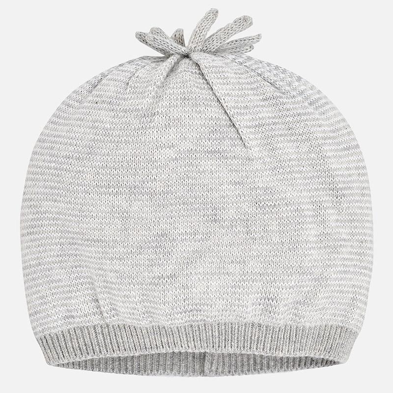 Gorro tricot para bebé Gris vigoré - Mayoral