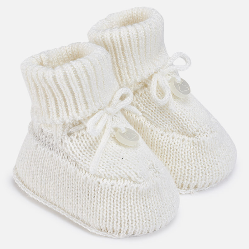 Patucos tricot para bebé Crudo - Mayoral