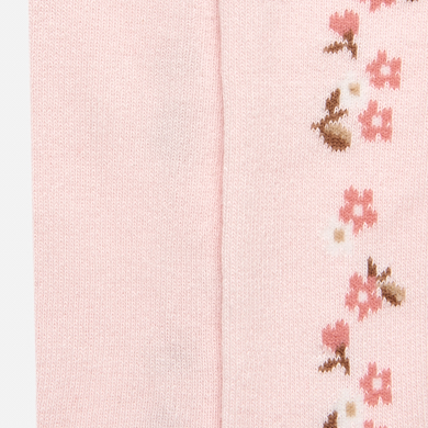Jacquard Tights For Baby Girl Pink Mayoral