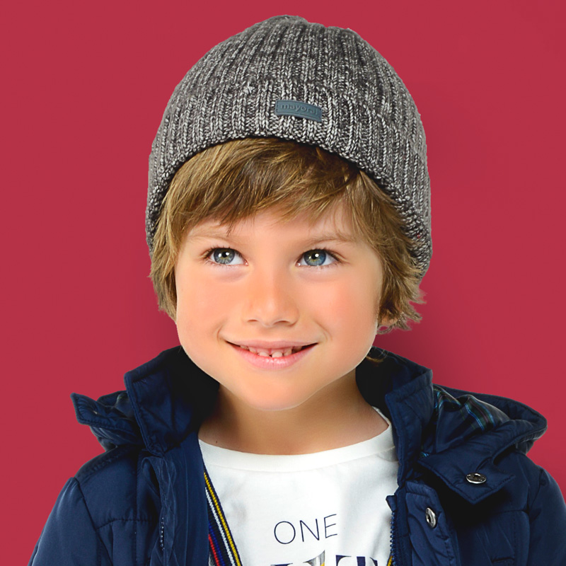 Ribbed beanie hat for boy Navy blue - Mayoral ce8b445cf93