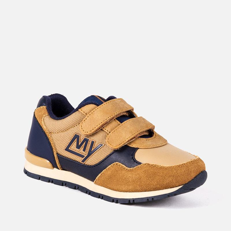 Zapatillas Running logo para niño Cámel - Mayoral