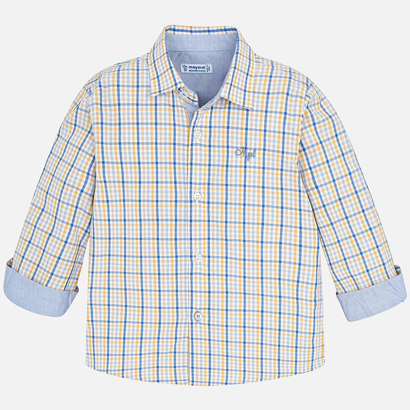 Camisa manga larga de cuadros para bebé niño Blue - Mayoral