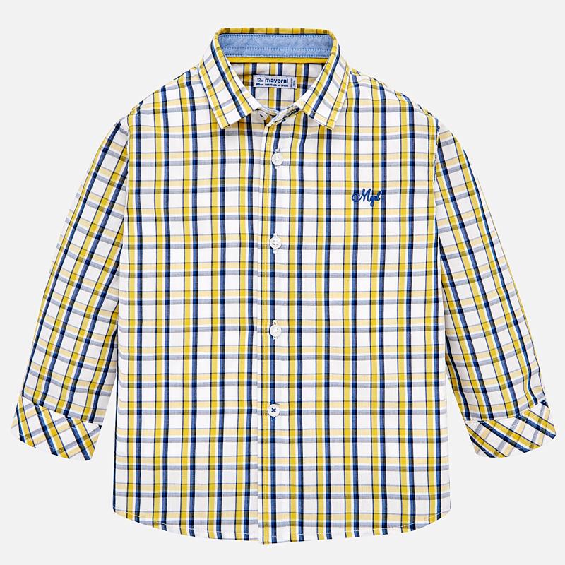 Camisa manga larga para bebé niño con cuadros Oro-Eclipse - Mayoral