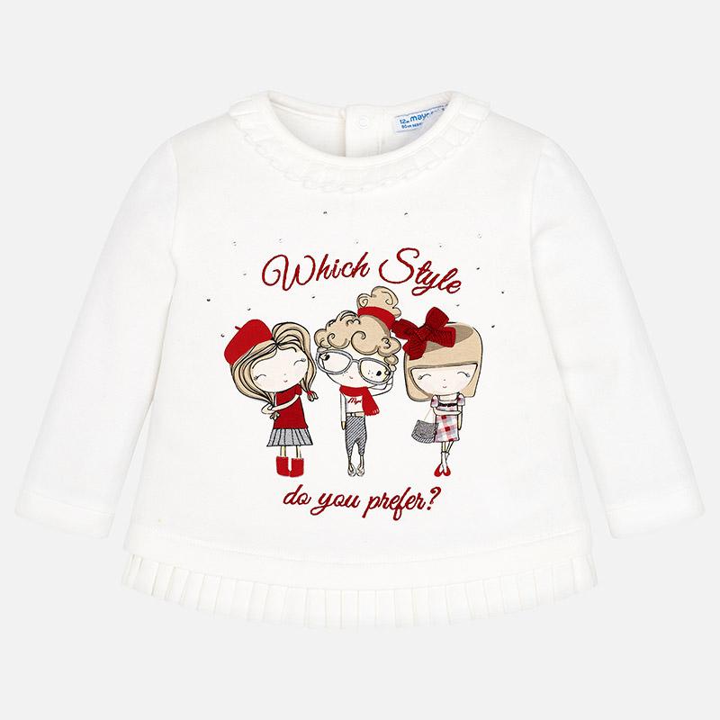 Sudadera muñecas para bebé niña Crudo - Mayoral
