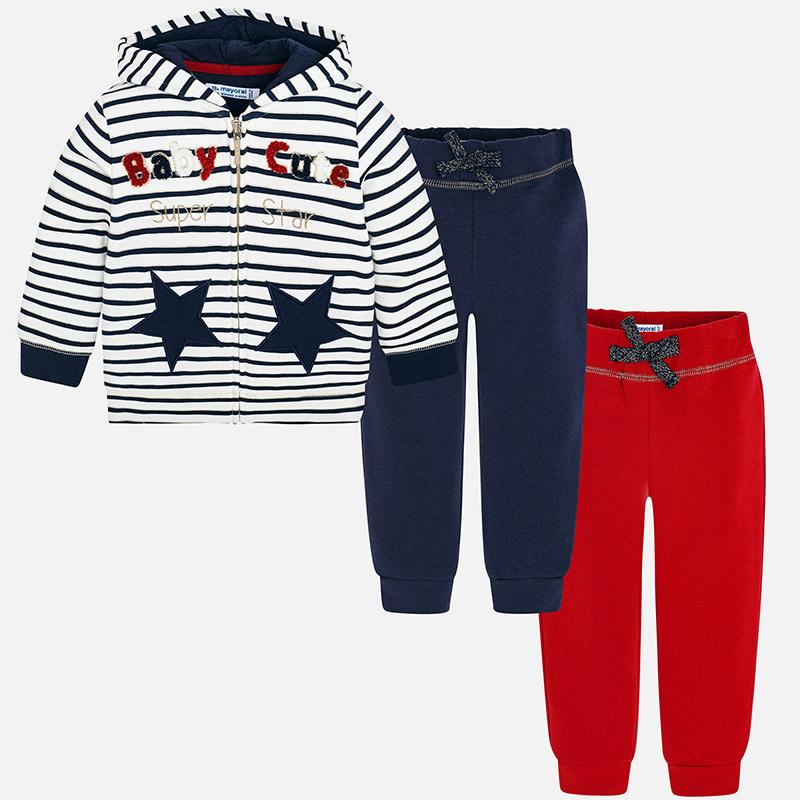 Σετ παντελόνι φόρμα ριγέ 2 τεμάχια για baby κορίτσι Ναυτικό μπλε-κόκκινο f8643f499fc