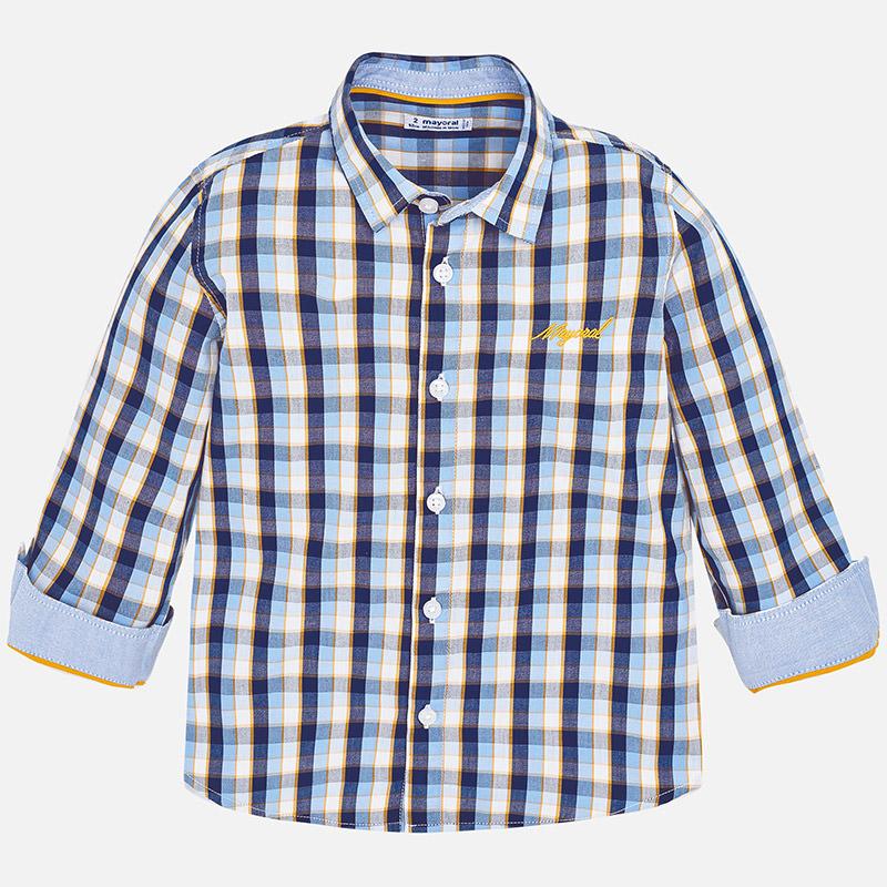 Camisa de cuadros con manga larga para niño Honey-Noche - Mayoral