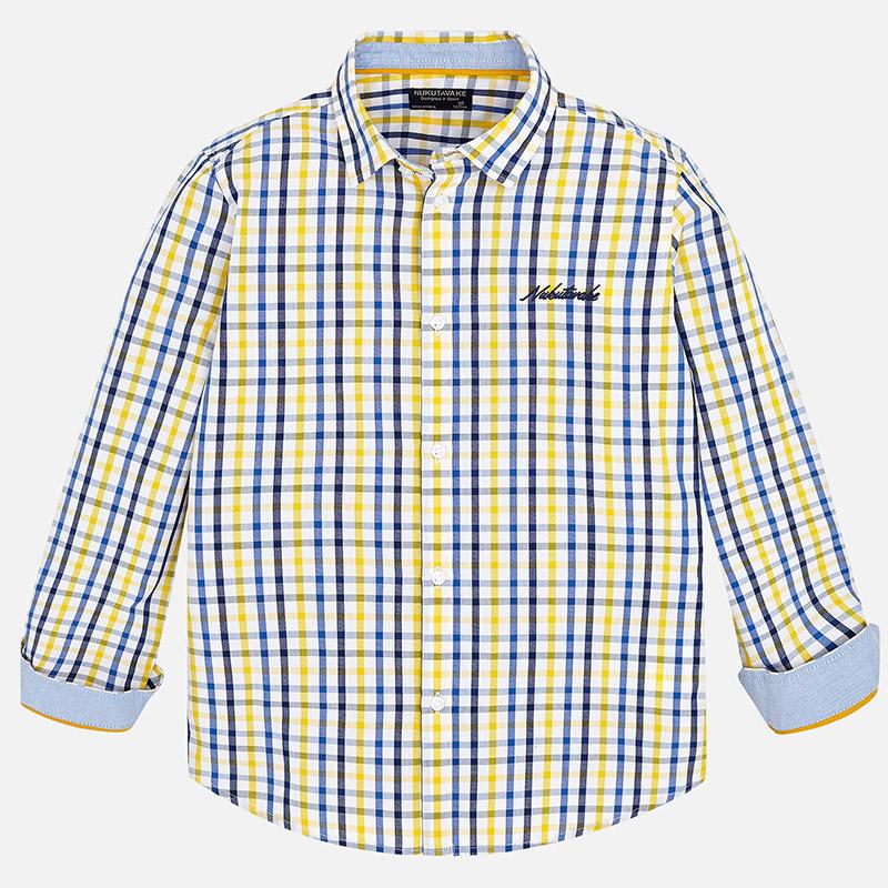 a261bc9d55 Camisa de quadrados para menino Oro-Marino - Mayoral
