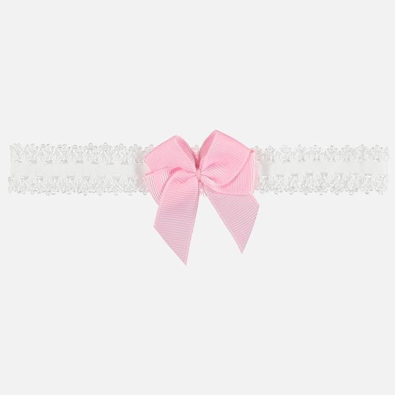 Diadema con lazo doble para niña Rosa - Mayoral