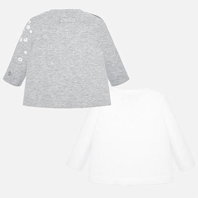 the latest 867e3 f9a01 Set magliette manica lunga neonata Argento Vigoré - Mayoral