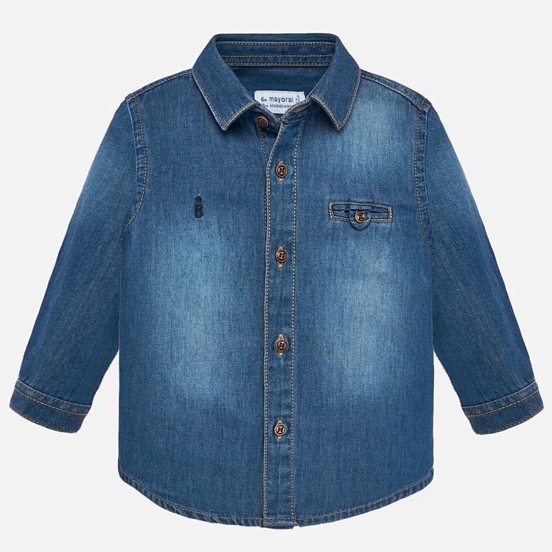 877eab515c Camicia manica lunga denim bambino Jeans - Mayoral