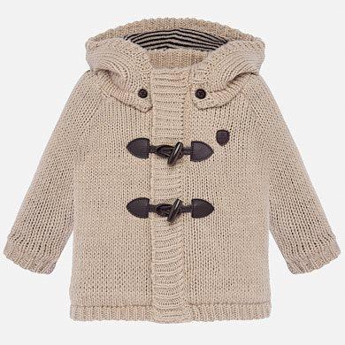 Cappotto con alamari in maglia