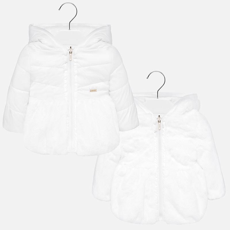 Dwustronna kurtka dla dziewczynki Baby Ecru