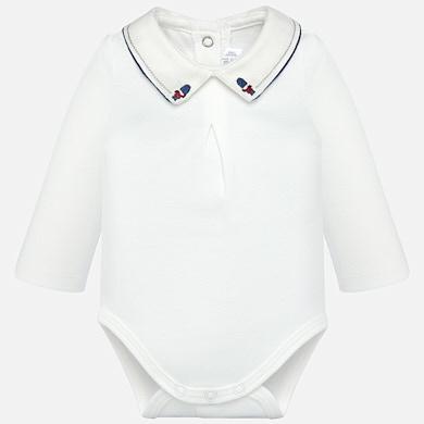 3cd9c0a27e5a Body gola camisa lisa bebé menino recém nascido Cru-moon - Mayoral