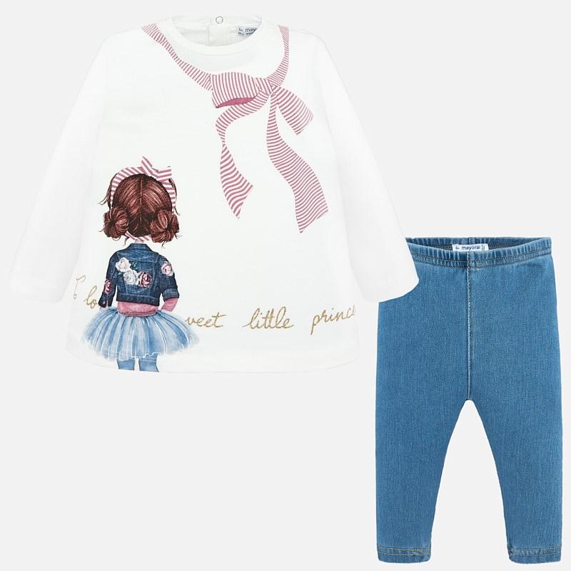 9705f3a8276 Σετ κολάν και μπλούζα baby κορίτσι Ροζ - Mayoral