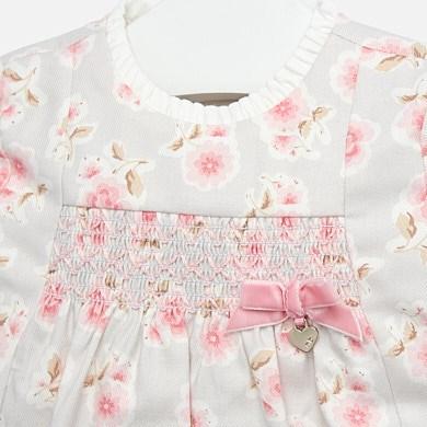 Vestido Estampado Floral Bebé Niña Rosa Baby Mayoral