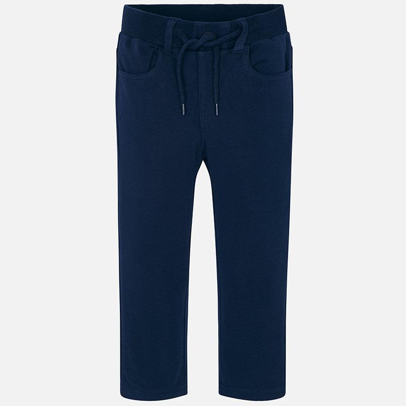 Pantalón largo cordón training niño Azul