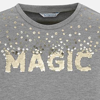 buy popular a7fcd 0c884 Langarm Shirt Mädchen basic Pailletten Stahl vigoré - Mayoral
