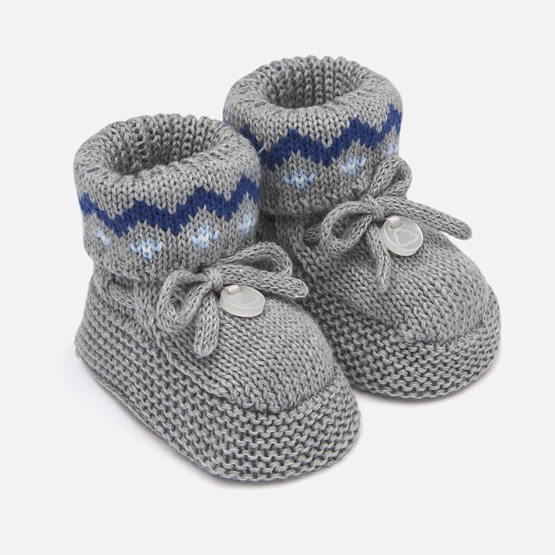 8fc826918e2 Knit booties for newborn baby Steel - Mayoral